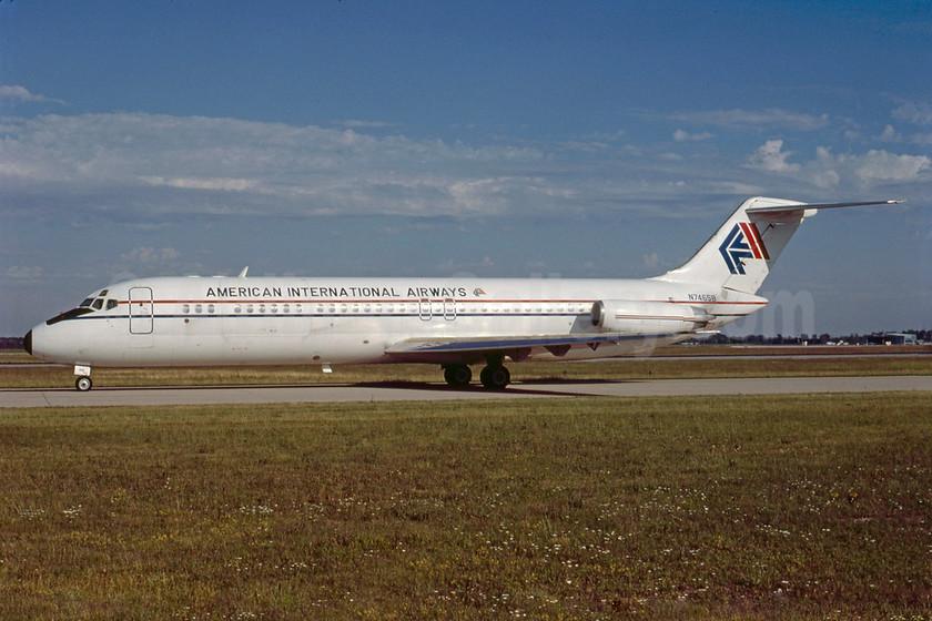 American International Airways (2nd) McDonnell Douglas DC-9-33CF N7465B (msn 47465) DTW (Bruce Drum). Image: 103294.