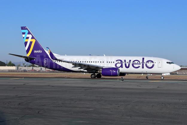 Avelo Airlines Boeing 737-8F2 WL N802XT (msn 34405) BUR (Michael B. Ing). Image: 954304.