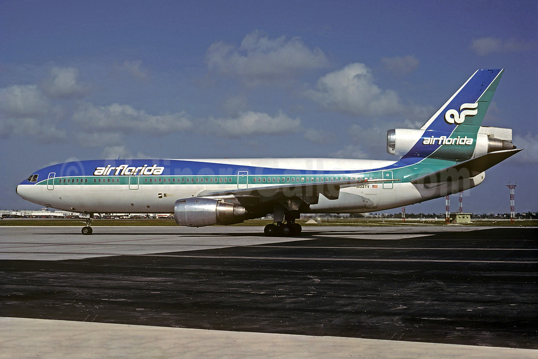 Air Florida (1st) McDonnell Douglas DC-10-30CF N102TV (msn 46801) MIA (Al Rodriguez - Christian Volpati Collection). Image: 931998.