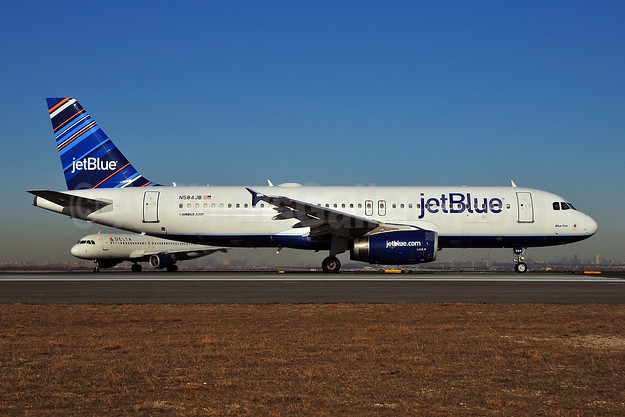JetBlue Airways Airbus A320-232 N584JB (msn 2149) (Barcode) JFK (Ken Petersen). Image: 908068.