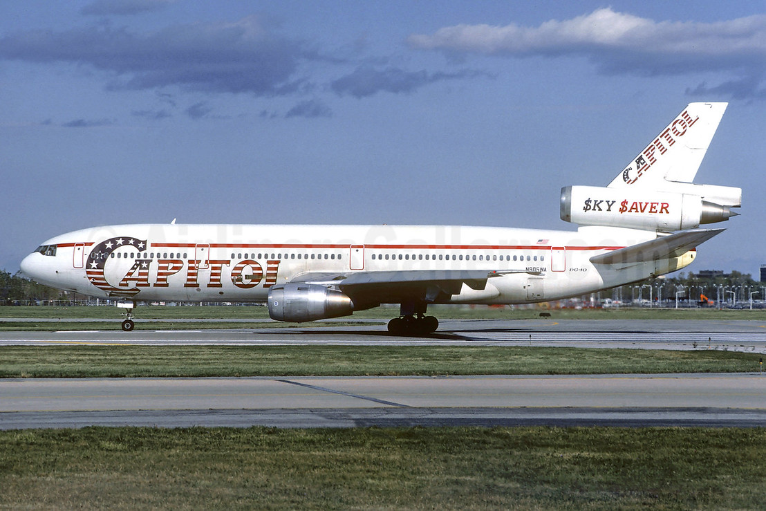 Capitol International Airways McDonnell Douglas DC-10-10 N905WA (msn 46938) (SkySaver) ORD (Ron Kluk). Image: 939463.