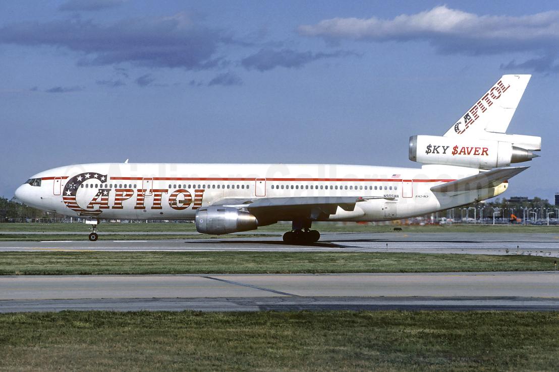 Capitol International Airways McDonnell Douglas DC-10-10 N905WA (msn 46938) (SkySaver) ORD (Ron Kluk). Image: 939463.