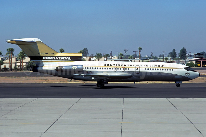"""Rare """"Golden Jet 727"""", leased from Boeing August 1, 1967"""