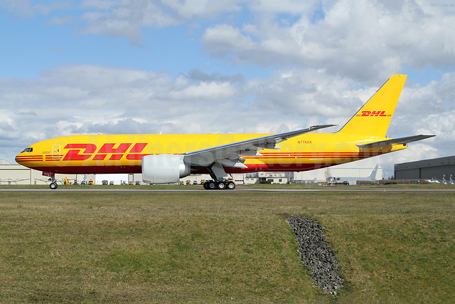 DHL-Kalitta Air (2nd) Boeing 777F N776CK (msn 66815) PAE (Nick Dean). Image: 953438.