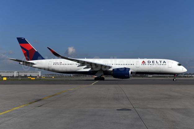 Delta Air Lines Airbus A350-941 N515DN (msn 404) AMS (Ton Jochems). Image: 954364.
