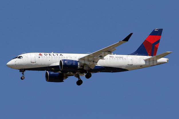 Delta Air Lines Airbus A220-100 (CS100 BD-500-1A10) N124DU (msn 50043) IAD (Brian McDonough). Image: 950567.