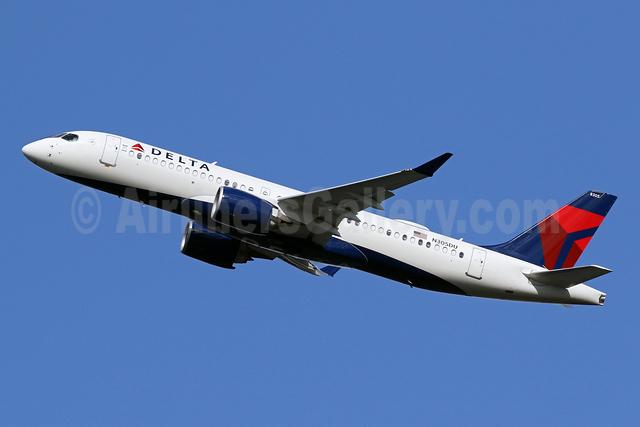 Delta Air Lines Airbus A220-300 (CS300 BD-500-1A11) N305DU (msn 55084) DCA (Brian McDonough). Image: 954344.