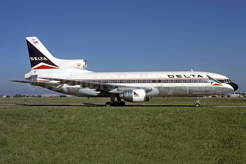 Delta Air Lines Lockheed L-1011-385-3 TriStar 500 N755DL (msn 1184) ORY (Jacques Guillem). Image: 953442.