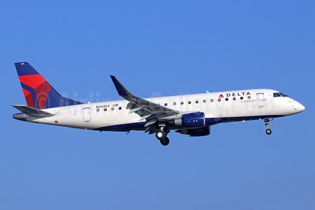 Delta Connection-SkyWest Airlines Embraer ERJ 170-200LR (ERJ 175) N244SY (msn 17000588) SNA (Michael B. Ing). Image: 945470.