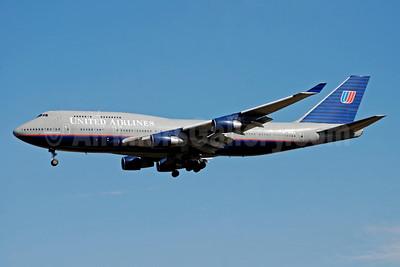 United Airlines Boeing 747-422 N173UA (msn 24380) IAD (Bruce Drum). Image: 100836.