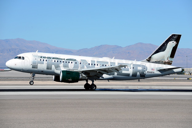 Frontier Airlines (2nd) Airbus A319-112 N949FR (msn 2857) (Ermine) LAS (Ton Jochems). Image: 921280.