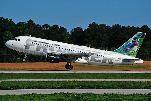 Frontier Airlines (2nd) Airbus A319-111 N902FR (msn 1515) (Wood Duck)  RDU (Ken Petersen). Image: 923956.