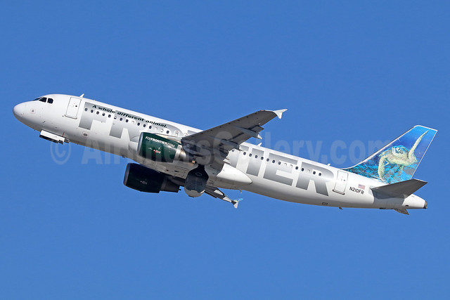 Frontier Airlines (2nd) Airbus A320-214 N210FR (msn 4668) (Sea Turtle) LAX (Michael B. Ing). Image: 935883.