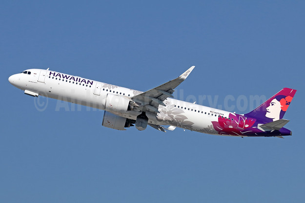Hawaiian Airlines Airbus A321-271N WL N202HA (msn 7917) LAX (Michael B. Ing). Image: 940199.