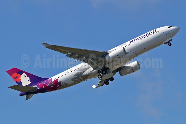 The first Airbus A330 in the new 2017 livery