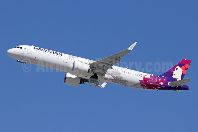 Hawaiian Airlines Airbus A321-271N WL N212HA (msn 8129) LAX (Michael B. Ing). Image: 943866.