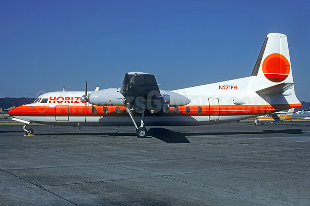 Horizon Air Fairchild F-27 N271PH (msn 14) BFI (Christian Volpati Collection). Image: 934396.