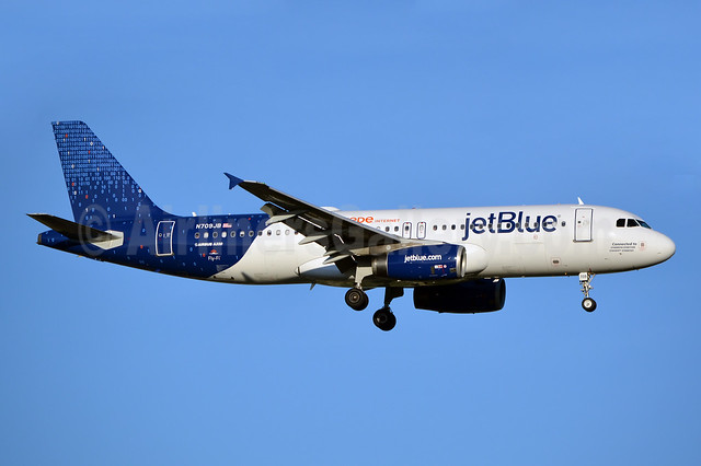 "JetBlue's one-off ""Binary Code"" special livery"