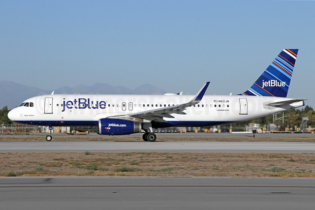 JetBlue Airways Airbus A320-232 WL N821JB (msn 5417) (Barcode) LGB (Michael B. Ing). Image: 920904.