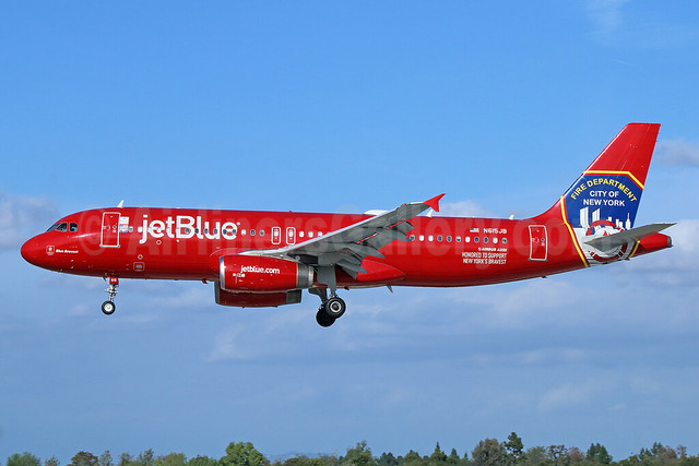 JetBlue Airways Airbus A320-232 N615JB (msn 2461) (FDNY - Fire Department New York) LGB (Michael B. Ing). Image: 926172.