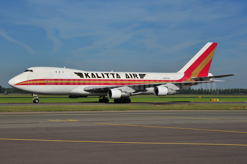 Kalitta Air (2nd) Boeing 747-246F N707CK (msn 21681) AMS (Ton Jochems). Image: 953348.