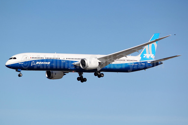 The first Boeing 787-10 Dreamliner