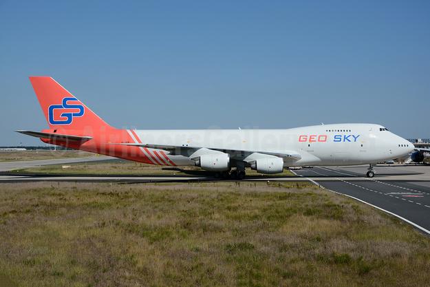 Geo Sky Boeing 747-268B (F) 4L-GEN (msn 23735) FRA (Bernhard Ross). Image: 954889.