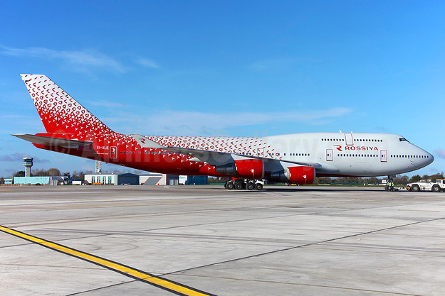 Rossiya introduces the Boeing 747-400 with a new livery